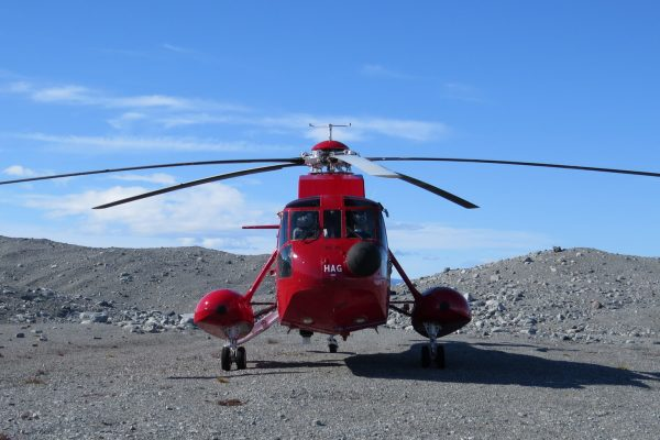 Set-AB-445-Shiny red helicopter